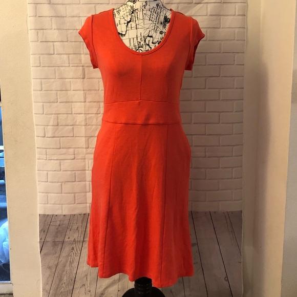 adcc671eaaa ... coral red cap sleeve sheath dress. M 5c4d41596a0bb7b83c0079ae